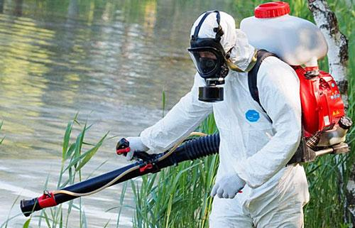 обработка пруда от комаров